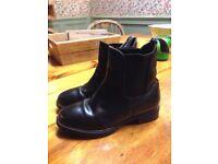 Childs Black Brogini Jodphur Boots