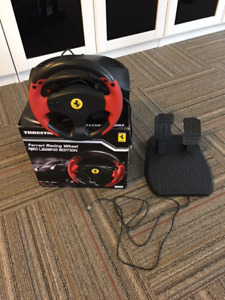 Thrustmaster steeering wheel and pedals