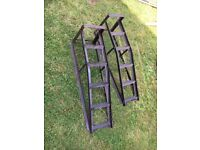 Pair of CAR RAMPS Sturdy Steel Workshop Repair - good working cond - PRICED TO SELL / NO OFFERS