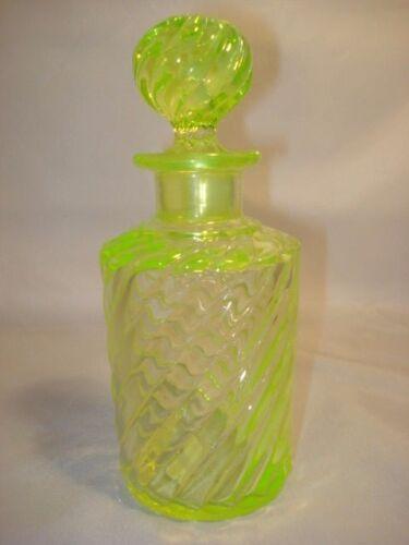 19Th Century Baccarat Vaseline Glass Cologne Bottle