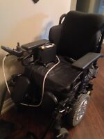 ALMOST NEW POWER WHEELCHAIR- SORRY, DOES NOT TILT