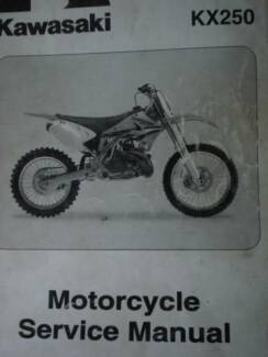 KAWASAKI  KX250 FACTORY WORKSHOP MANUAL c2005 Dianella Stirling Area Preview