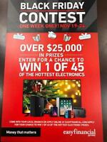Black Friday Contest Easy Financial Services, Win Big!