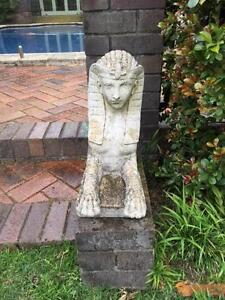 Sphinx Garden Statues For Sale (includes 2) Centennial Park Eastern Suburbs Preview