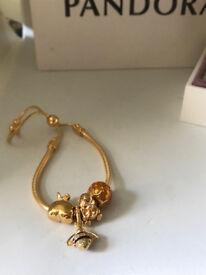 Pandora shine slider bracelet and charms