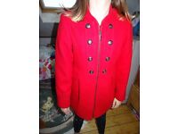 Girls Red Military Coat by NEXT rarely worn 10yrs (have 2 to sell) suit Wedding