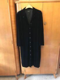 Black velvet dress. Mid calf length.