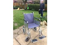 Standard folding lightweight wheelchair with additional pressure relief cushion ,pneumatic tyres .
