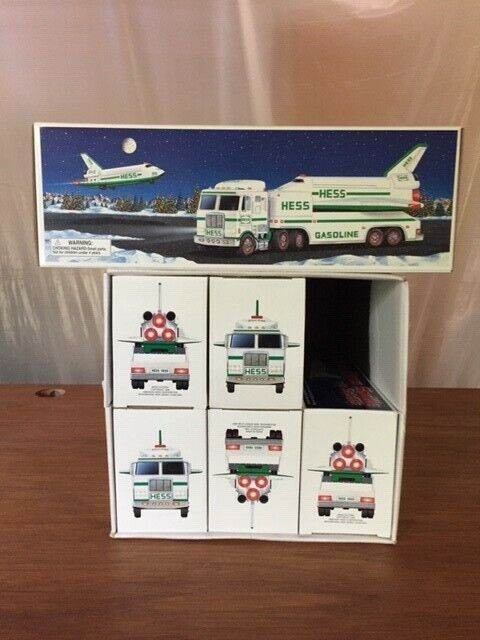 Hess 1999 Toy Truck and Space Shuttle with Satellite, New In Box!!! Lot of Six