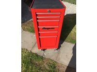 Snap-on end cab tool chest.