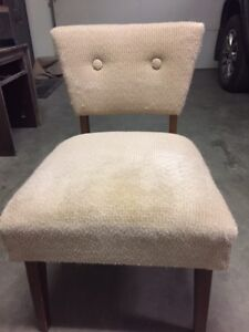 Retro Chair Armless Upholstered Accent