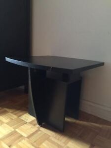 Solid small black table