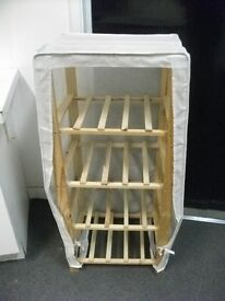 Shelving unit with cover .