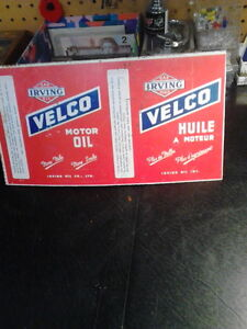1950's Irving Velco Oil Can London Ontario image 1