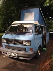 SOLD! COOL VW T25 Campervan 1989 –MOT full year; available 1st August 2017