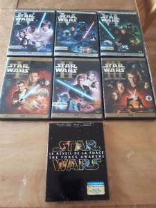 Série DVD complete Star Wars 1 a 7