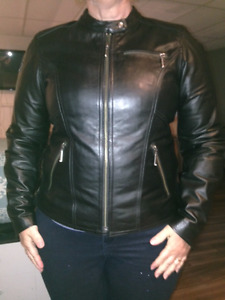 Harley womens leather motorcycle jacket