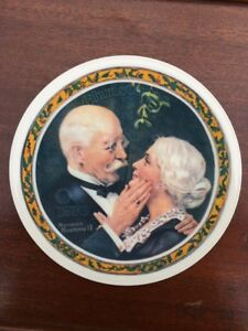 Norman Rockwell Collector Plate  ~Golden Christmas~