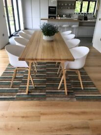 Stylish 8 person contemporary wooden dining room table