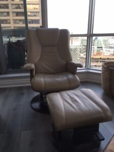 Glider rocking chair with ottoman LEATHER