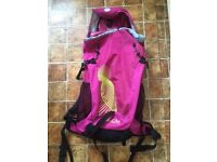 LADIES GIRLS LARGE PINK RUCKSACK BACKPACK