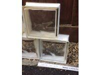 18 Glass Bricks / Block Reclaimed