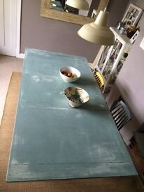 Refurbished good quality wooden table - painted in Annie Sloan