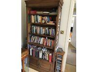 Oak bookcase adjustable shelves