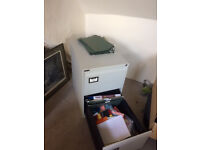 Metal Filing Cabinet - Two draw with lots of dividers