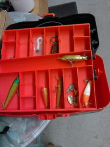 Plano 2 tier tackle box with lures and baits London Ontario image 2