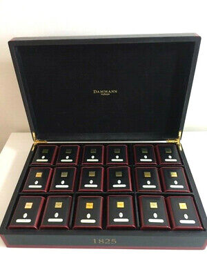 Danmann Freres 9 Compartment Wooden Tea Chest Box with 18 Empty Tea Caddies