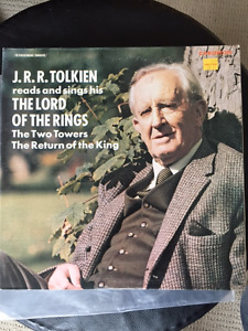 Vinyl LP - J.R.R. Tolkien Reads & Sings Lord of the Rings.