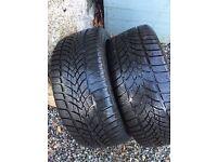 2 x Winter tyres - Dunlop 235 45R 17 97V SP Winter Sport