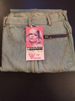 Vintage 80s DEBBIE HARRY-Blondie NEW COND Unused MURJANI Jeans  size 13