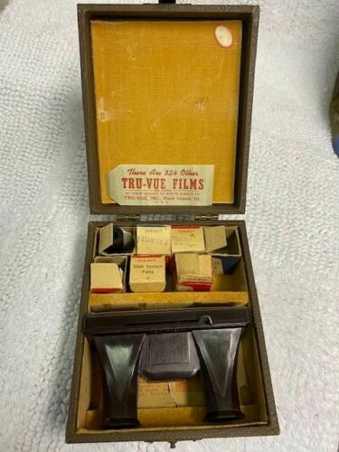 Vintage Tru-Vue Film Strip Viewer. Early 1930