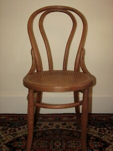 Antique Bentwood Bistro Chair, Woven Cane Seat, Cafe-Style Kitchener / Waterloo Kitchener Area image 2