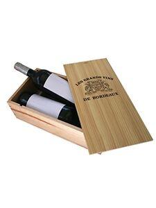 caisse bois vins 2 bouteilles avec couvercle glissi re ebay. Black Bedroom Furniture Sets. Home Design Ideas