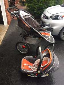 Graco Jogger Stroller, with baby car seat