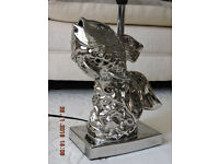 Table Lamp in the Form of a Fish - Chrome - Lovely Unusual Item