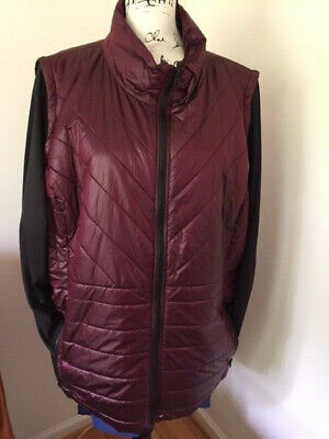 NWT $119.00Zenergy Convertible Puffer Jacket.Size:4(20/22-XXL).Color:Deep Merlot Convertible Puffer Jacket
