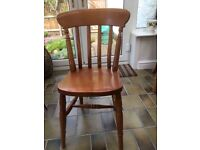 Solid Pine Kitchen Chairs - five available