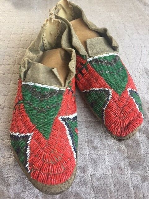 Plains Native American Indian Moccasins