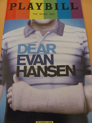 DEAR EVAN HANSEN Playbill PRIDE Broadway Musical BEN PLATT New York TONYS TONY