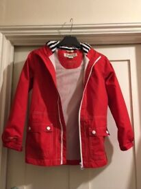 Light weight waterproof red Regatta coat - size 9-10 years - never used