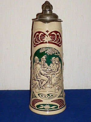 Old large Westerwald Pitcher Beer Jug Wine jug Historicism jug Westerwald