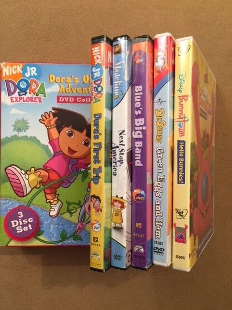 LOT DVDs - Dora s Ultimate Adventure DVD Collection Bunnytown Dr Seuss MORE - $19.99
