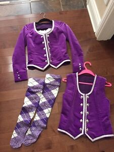 Highland dance jacket, vest & hose/socks