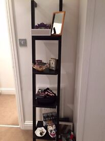 Black ladder shelves or bookcase for sale - great condition