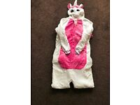 Brand new unicorn onesies with horn tail and button fastening size m in pink
