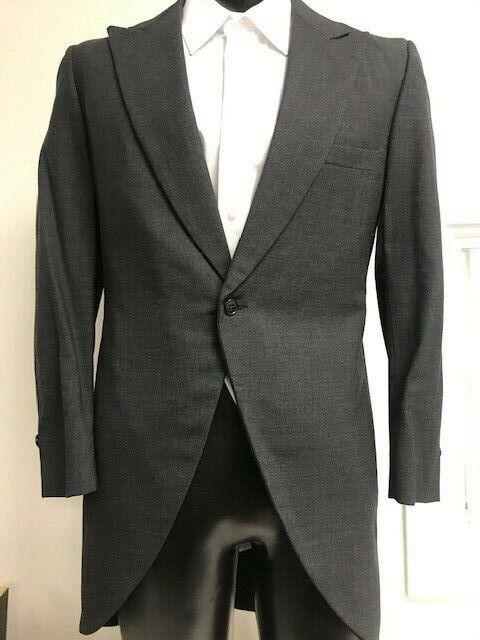 Dark Grey Cutaway tuxedo Coat